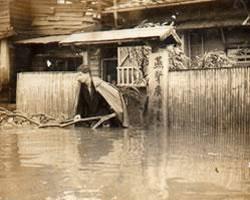 博愛街電台受溫妮強烈颱風侵襲淹水慘況